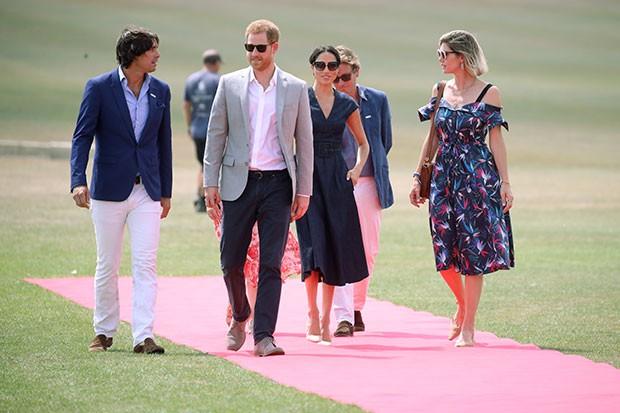 Meghan Markle participou de evento de polo com o príncipe Harry (Foto: Getty Images)