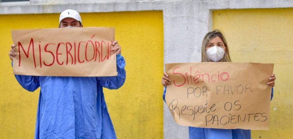 Manifestação aconteceu no sábado (3) — Foto: Rafael Domingues Soveral da Silva/Prefeitura de Guaratuba