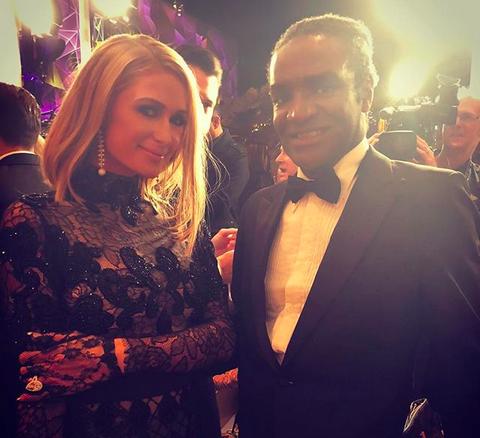 Terry Bryant com Paris Hilton (Foto: Instagram)