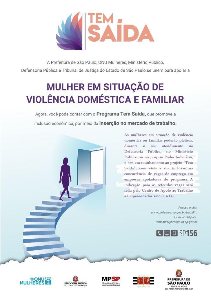 Parceria entre órgãos públicos promove empregabilidade de vítimas de violência doméstica (Foto: Divulgação)