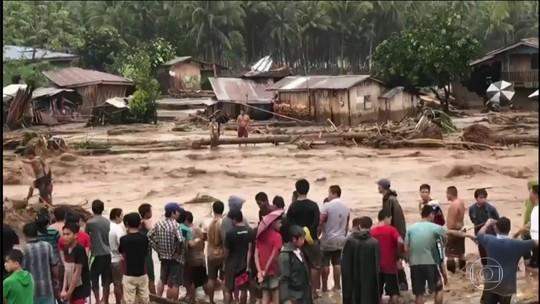 Número de mortos em tempestade tropical nas Filipinas passa de 180