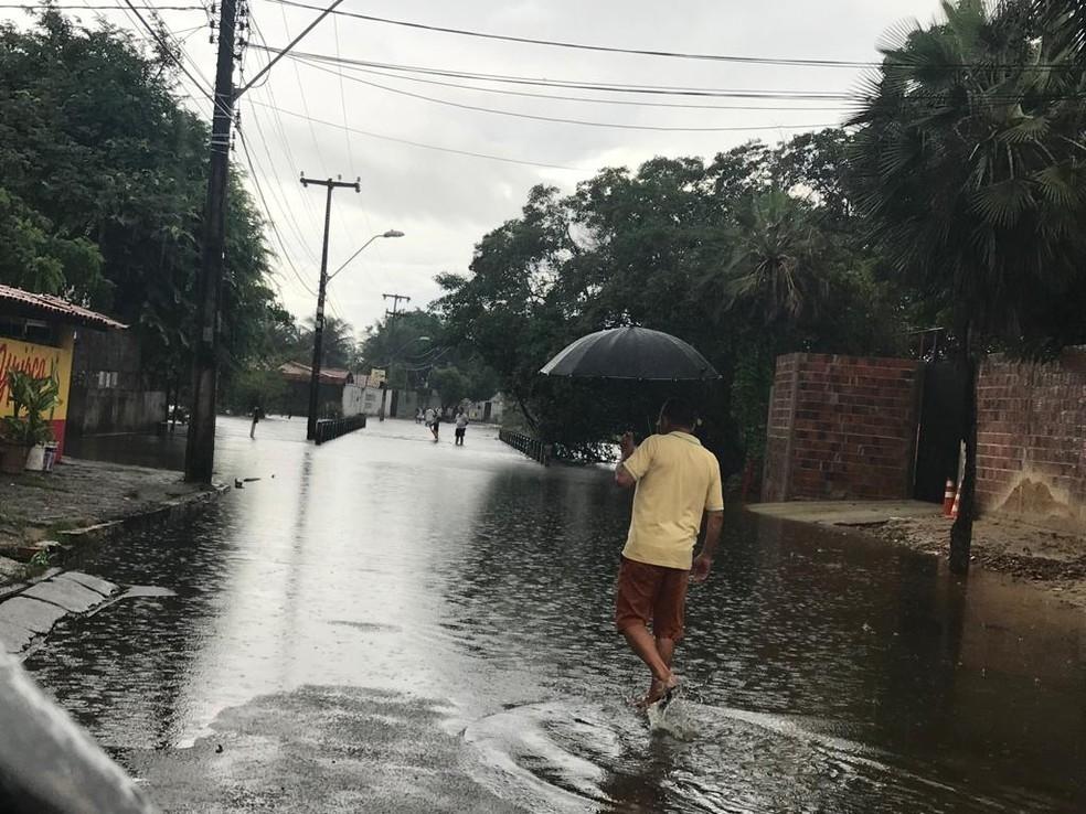 Chuvas no Ceará: Incluindo abril, mesmo parcialmente, todos os meses da quadra chuvosa terminaram acima da média — Foto: Alana Araújo