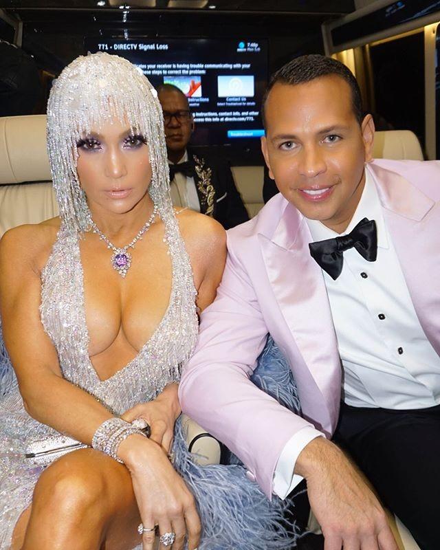 Jennifer Lopez e noivo (Foto: Reprodução)