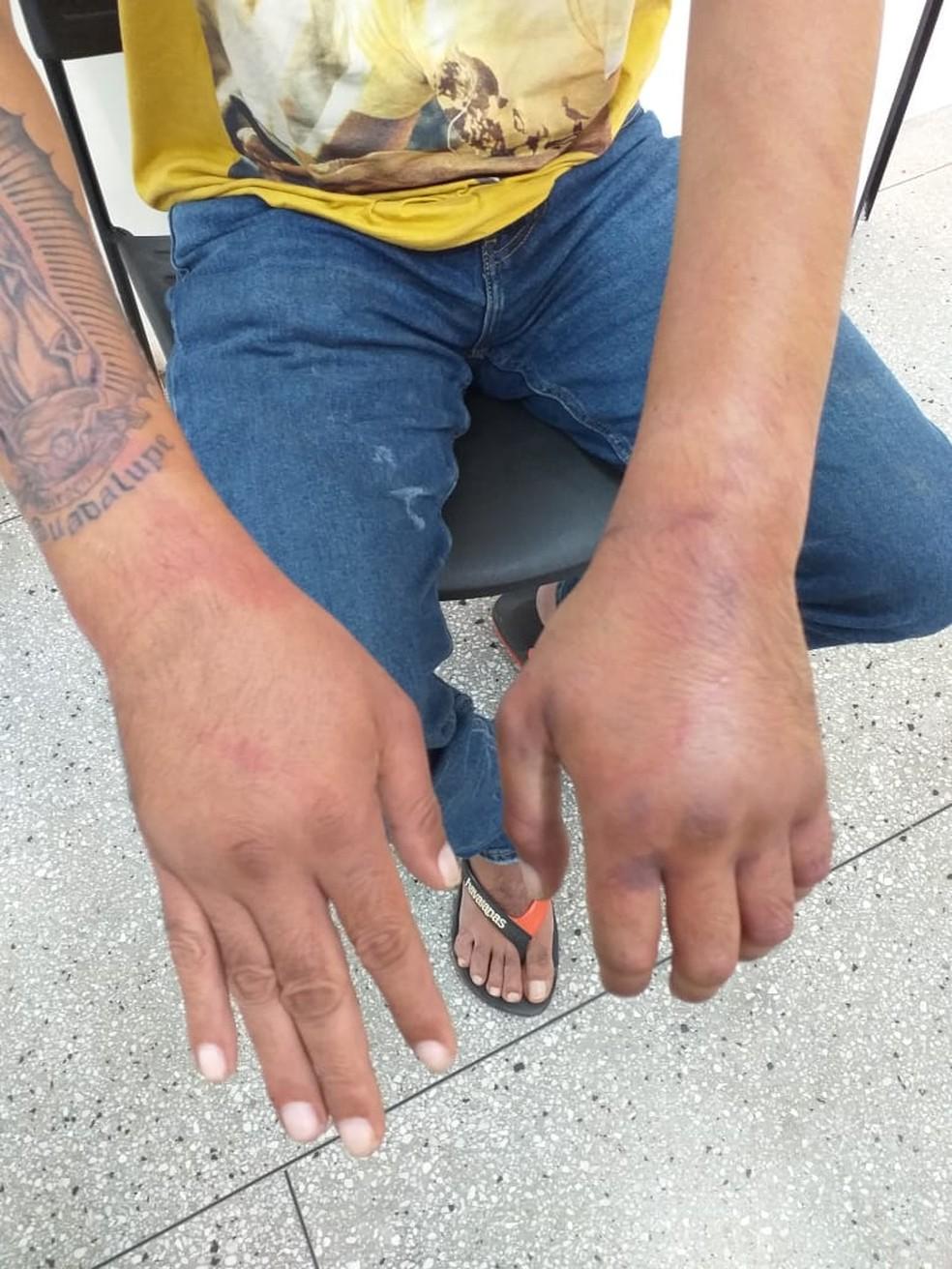 Vítima foi raptada por engano e torturada na Grande Natal — Foto: Divulgação/Polícia Civil