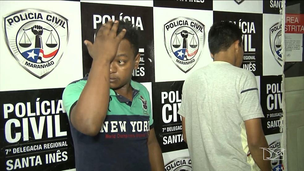 Homens foram presos após denúncia anônima. (Foto: Reprodução/TV Mirante)