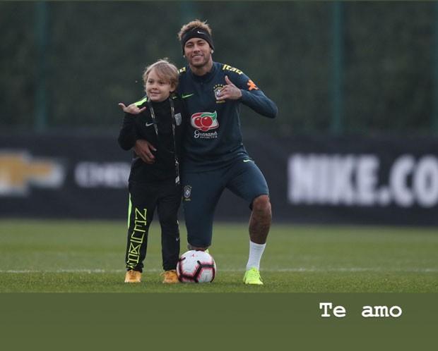 'Te amo', escreve Neymar em foto com o filho Davi Lucca (Foto: Reprodução / Instagram)