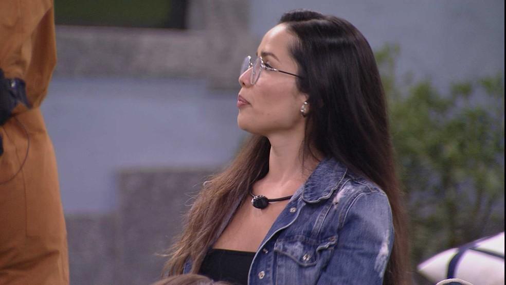 Karol Conká questiona Juliette sobre ser errado julgar no BBB21 e ouve: 'Você fez isso comigo' — Foto: Globo