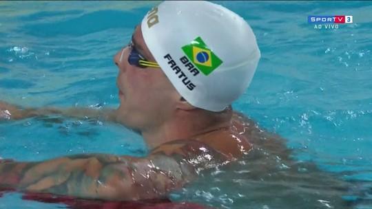 """Recordista na elite dos 50m, Fratus exalta fase: """"Ser parte da história dá confiança"""""""