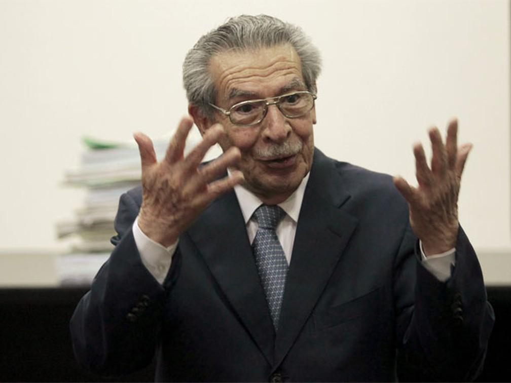 Morreu o antigo ditador Efrain Ríos Montt