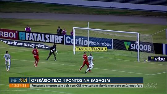Operário empata sem gols com o CRB-AL