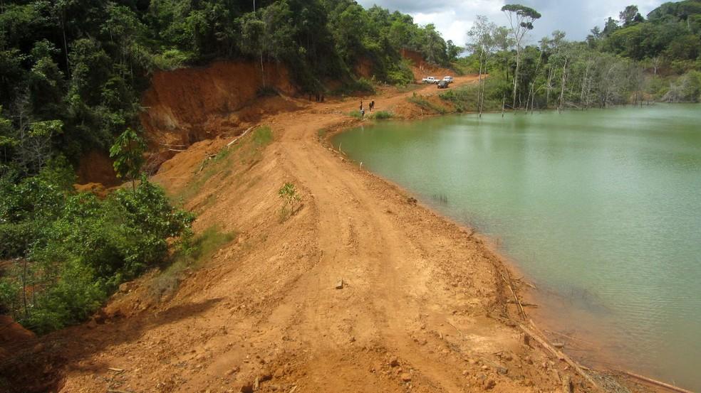 -  Operação Minamata investiga exploração de ouro no garimpo de Lourenço, no Amapá  Foto: PF/Divulgação