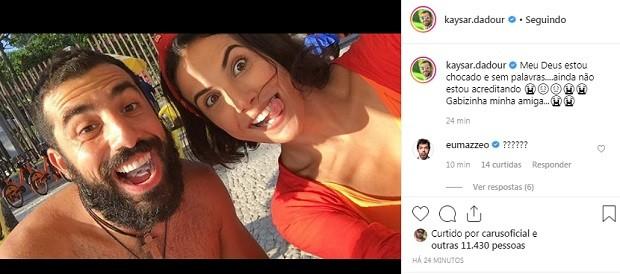 Post de Kaysar (Foto: Reprodução/Instagram)