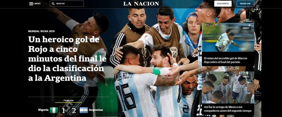 La Nación Argentina x Nigéria (Foto: Reprodução)