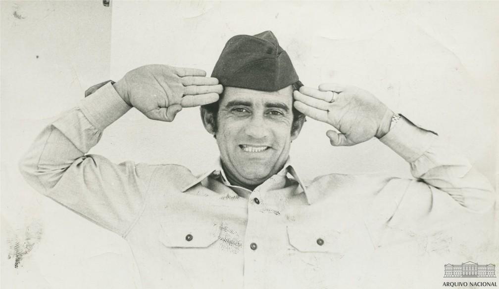 Renato Aragão, em novembro de 1970 — Foto: Arquivo Nacional