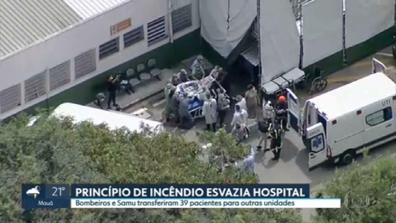 Princípio de incêndio esvazia hospital em Osasco