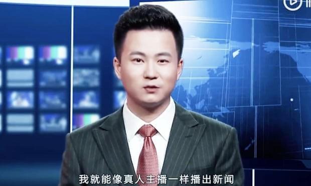 Qiu Hao, apresentador copiado da vida real para a inteligência artifical (Foto: Xinhua news)