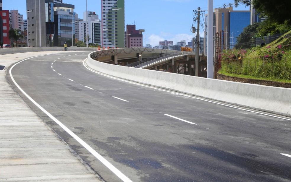Corredor viário da primeira etapa do sistema BRT foi inaugurado em Salvador nesta quarta-feira (30) — Foto: Divulgação/Prefeitura de Salvador