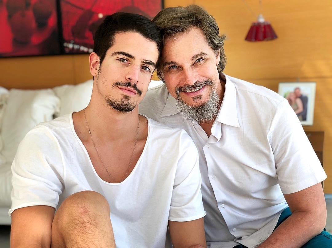Enzo e Edson Celulari (Foto: Reprodução Instagram)