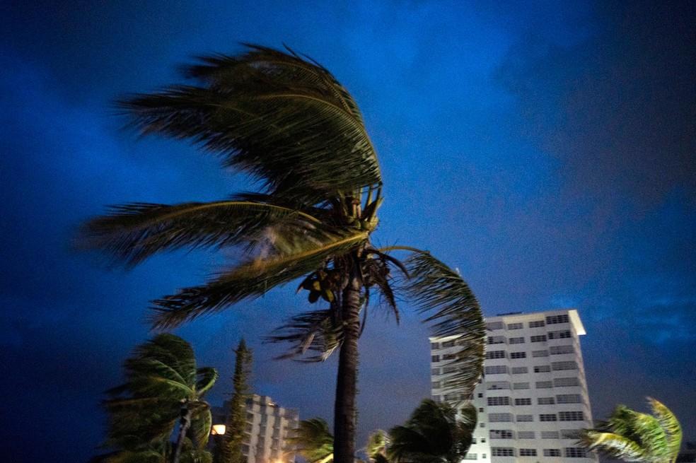 Ventos fortes foram provocados pelo furacão Dorian em Freeport, Grand Bahama, Bahamas, no domingo (1º)   — Foto: Ramón Espinosa/AP