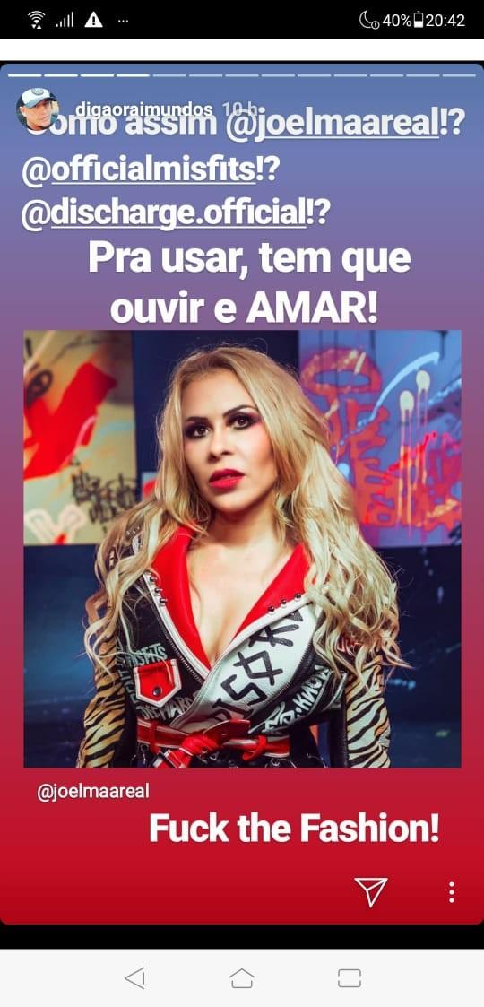 Digão, dos Raimundos, questiona Joelma por usar roupa com nomes de bandas punk: 'Para usar tem que ouvir' - Notícias - Plantão Diário