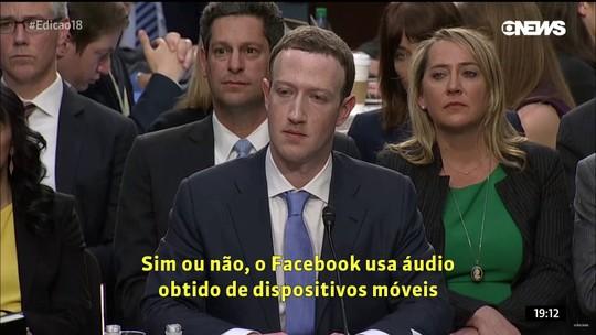 Ao Congresso dos EUA em 2018, Zuckerberg negou que Facebook acessasse áudio de usuários