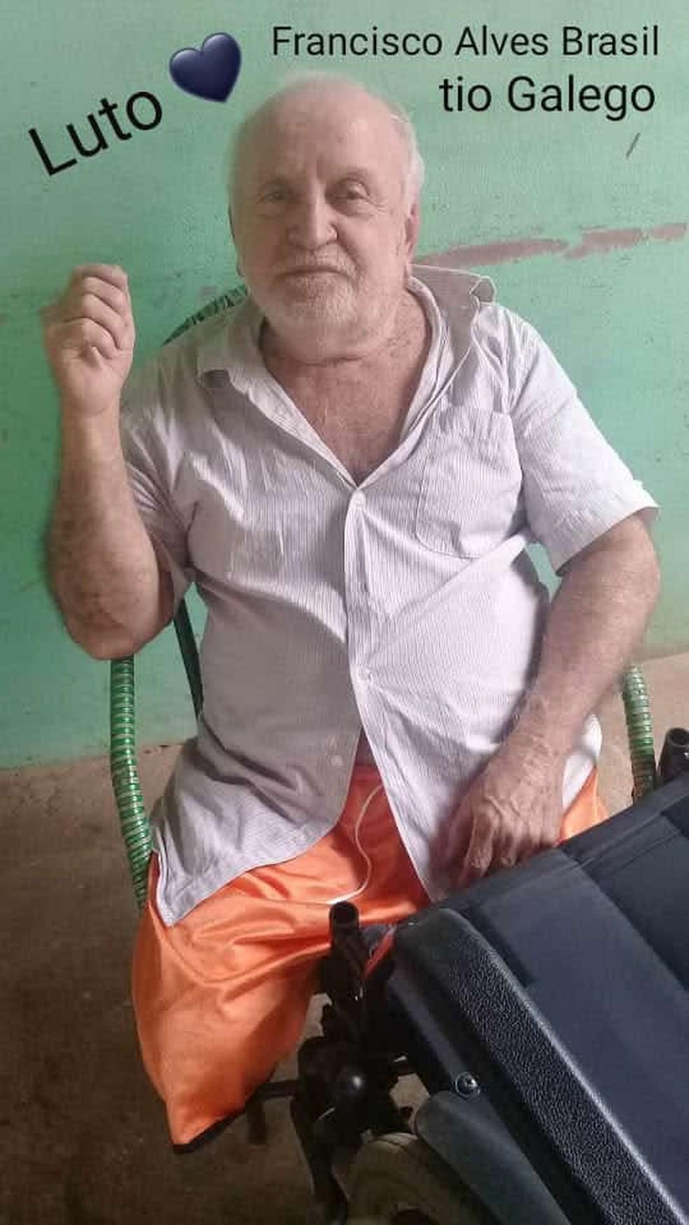 Família de Francisco Alves Brasil está inconformada com a situação que ele enfrentou — Foto: Arquivo Pessoal