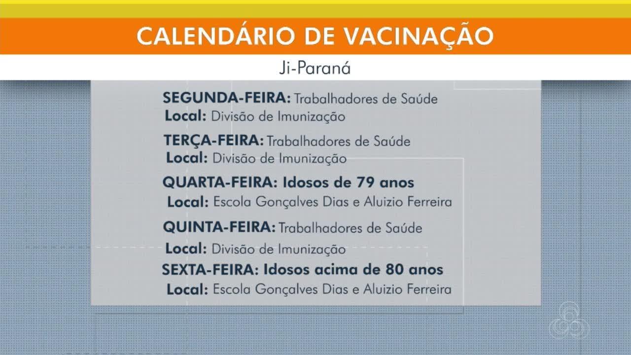 Idosos com 79 anos devem ser imunizados na próxima semana em Ji-Paraná