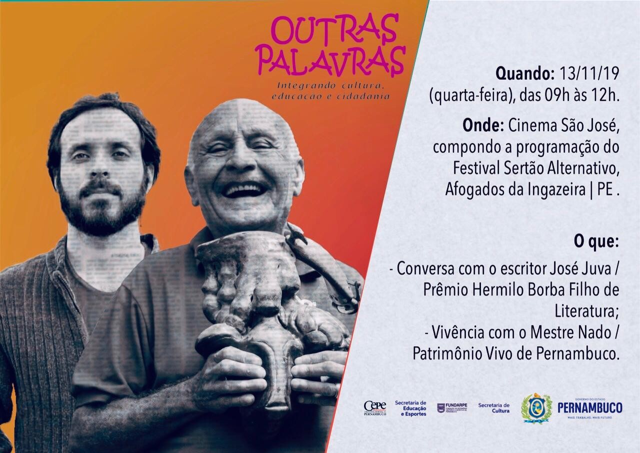 Fundarpe promove projeto 'Outras Palavras' em Itapetim e Afogados da Ingazeira - Notícias - Plantão Diário