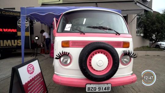Manicure vende carro e personaliza Kombi para fazer unhas em bairros de Jacareí