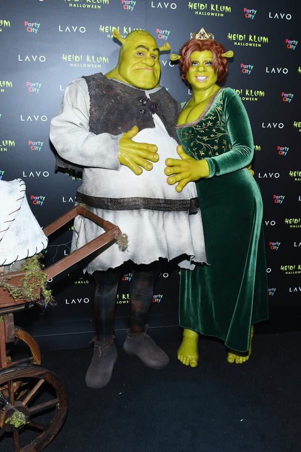 Fiona e Shrek: Heidi Klum e o namorado, Tom Kaulitz (Foto: Getty Images)