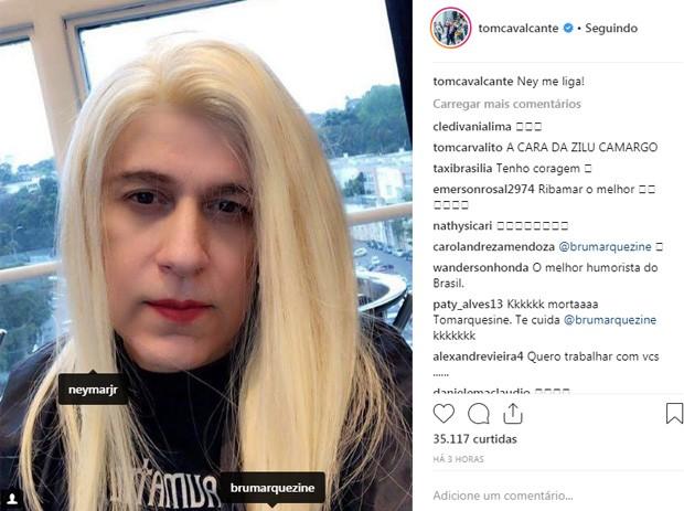 Tom Cavalcante posa à la Bruna Marquezine (Foto: Reprodução/Instagram)