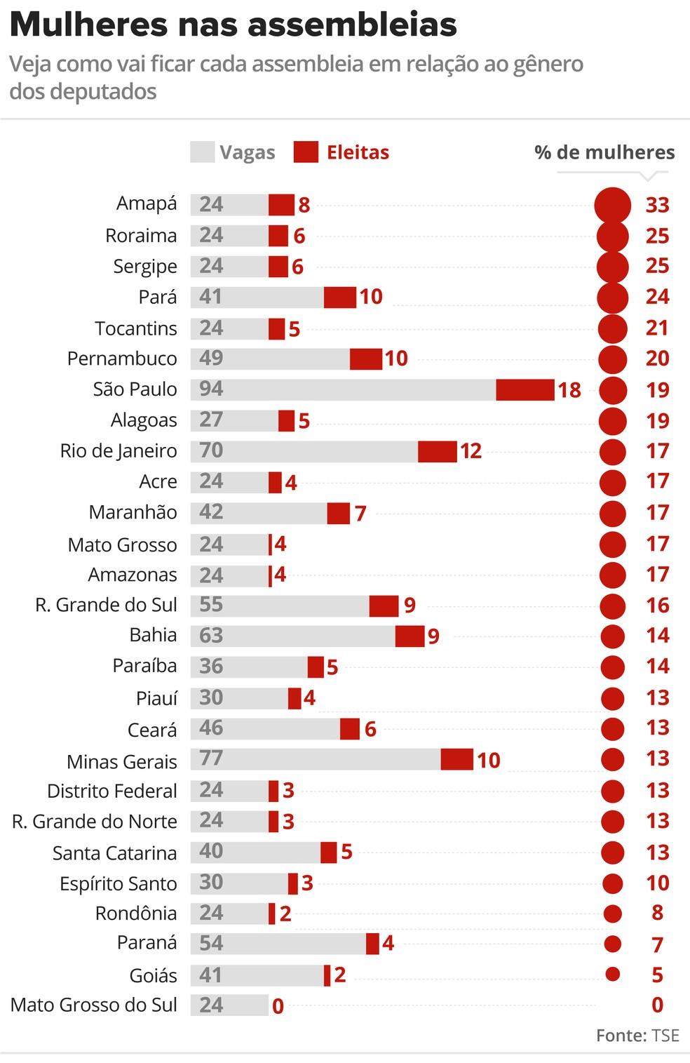 Mulheres nas assembleias: veja como vai ficar cada assembleia em relação ao gênero dos deputados (Foto: Rodrigo Cunha / G1)