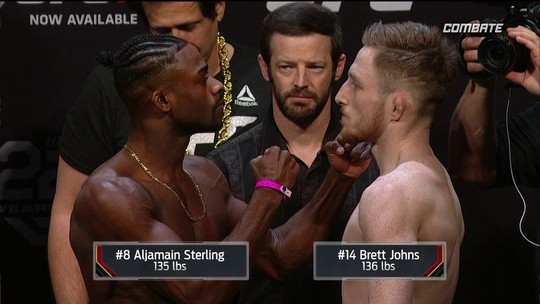 Aljamain Sterling e Brett Johns passam pela pesagem do UFC Atlantic City