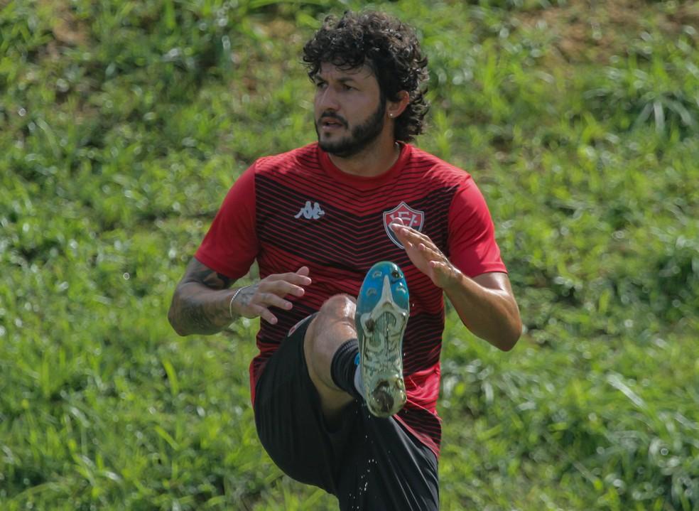 Vitória começou mais uma semana de treinos na Toca do Leão — Foto: Letícia Martins/ divulgação EC Vitória