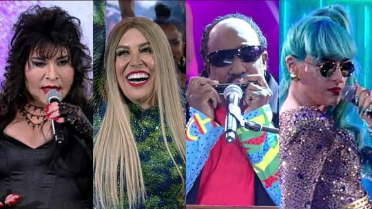 'Show dos Famosos': Mumuzinho surpreende como Stevie Wonder no palco do 'Domingão'