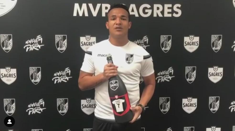 Welthon ajuda o Vitória de Guimarães a buscar uma vaga na Liga Europa — Foto: Instagram/Vitória de Guimarães