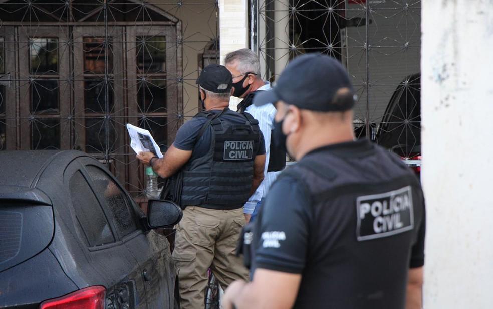 Polícia Civil prendeu homem Homem é preso suspeito de matar amante da companheira no sudoeste da Bahia — Foto: Divulgação/Polícia Civil