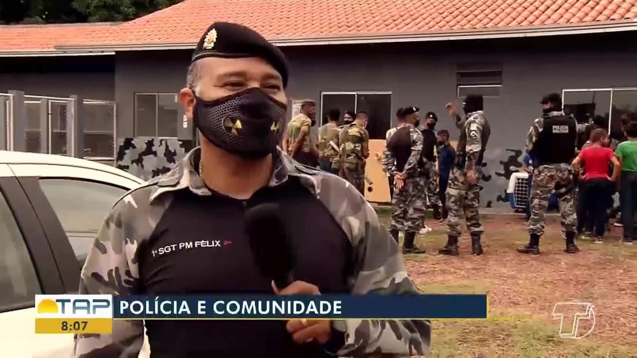 Crianças visitam sede do grupo operacional tático em Santarém