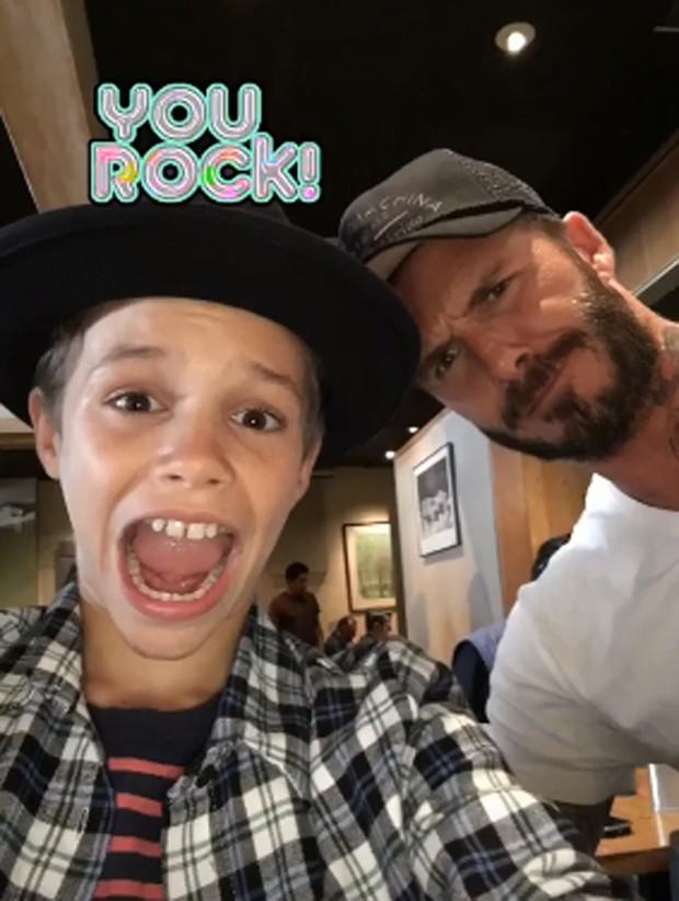 David Beckham e Romeo (Foto: Reprodução/Instagram)