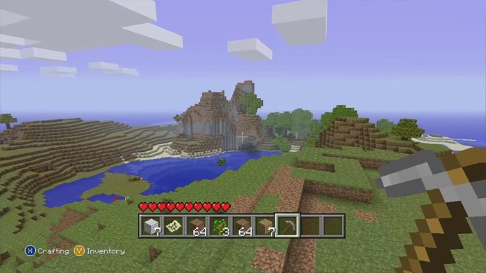 Minecraft no Xbox 360 e PlayStation 3 tem limitações técnicas, mas diverte como no PC (Foto: Reprodução/Minecraft Forum)