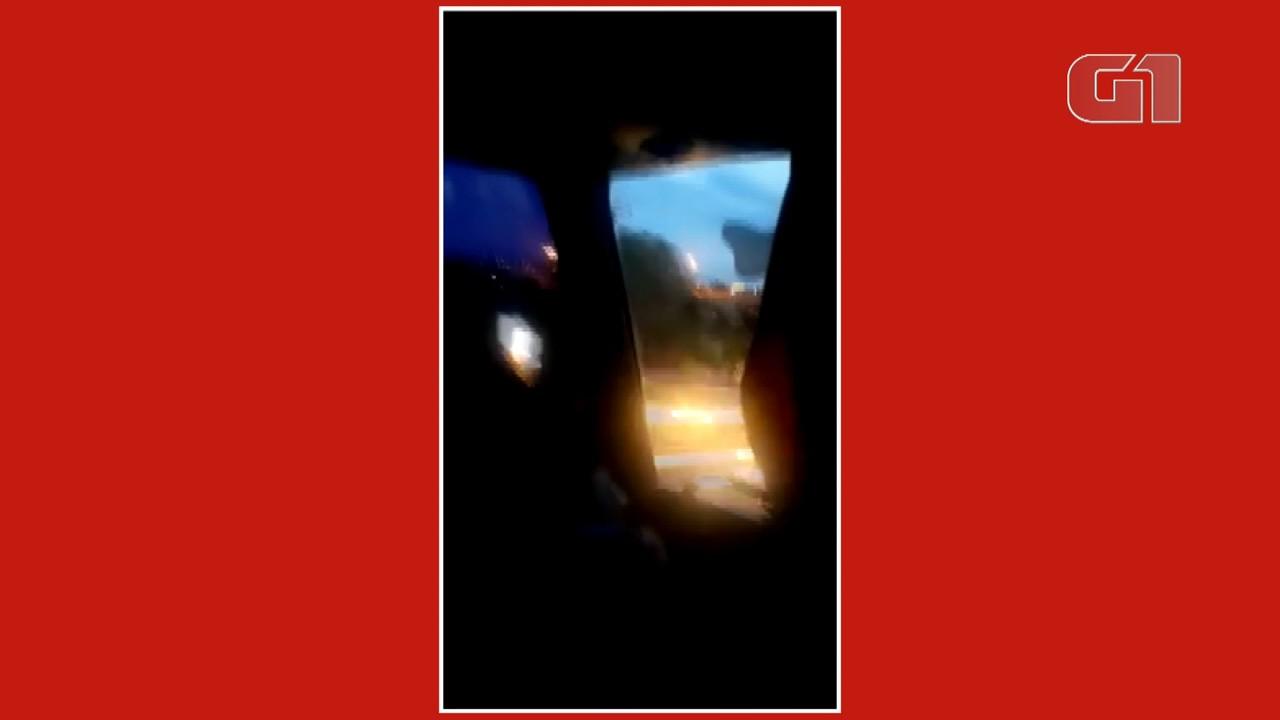 Jovem gravou um vídeo durante a viagem para Santa Catarina