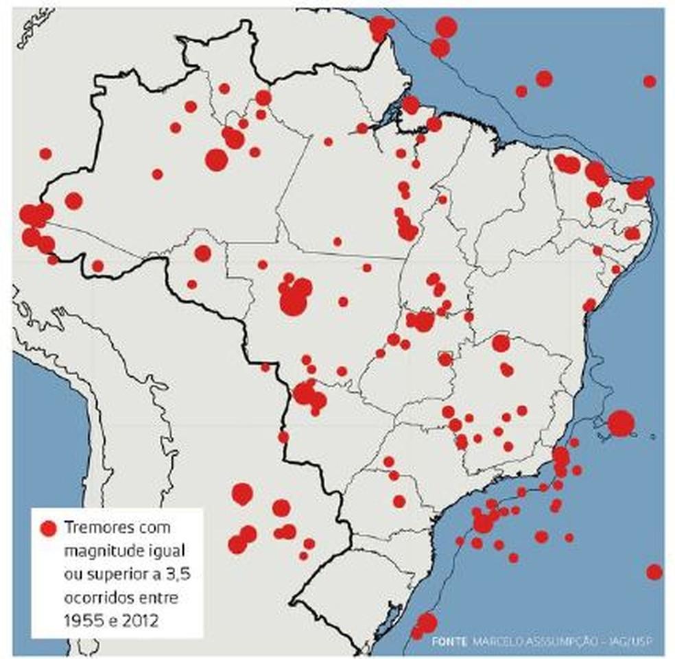 Pesquisador Marcelo Assumpção contabilizou tremores registrados no Brasil (Foto: Reprodução/Marcelo Assumpção-IAG/USP )