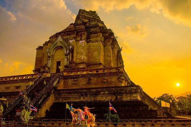 Templo budista Wat Chiang Man que fica em Chiang Mai, Tailândia (Foto: @Tetsushi Kimura/Flickr )