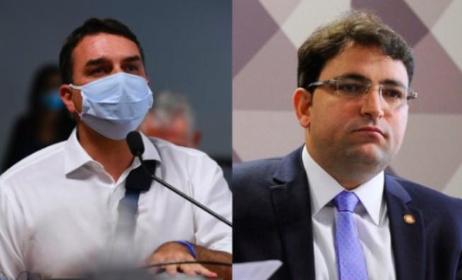 Flavio Bolsonaro e Willer Tomaz