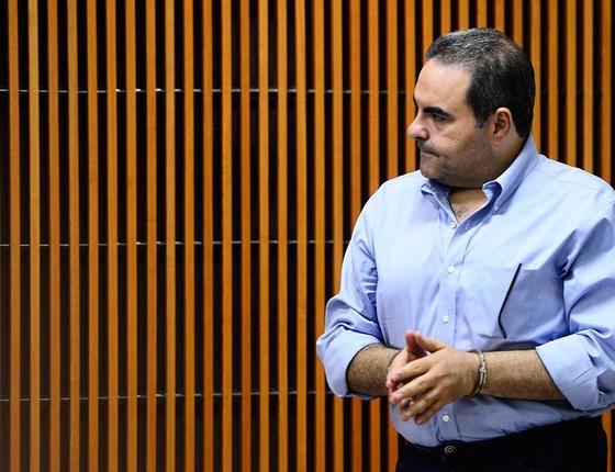 Elias Antonio Saca, ex-presidente de El Salvador (2004-2009), preso em outubro de 2016 por acusações de lavagem de dinheiro e formação de quadrilha (Foto: AFP PHOTO / MARVIN RECINOS)