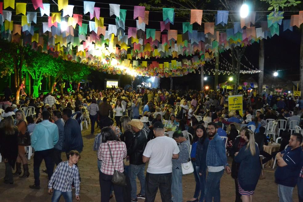 Arraiá AABB 2017 em Goiânia, Goiás — Foto: Assessoria de Comunicação AABB/Divulgação
