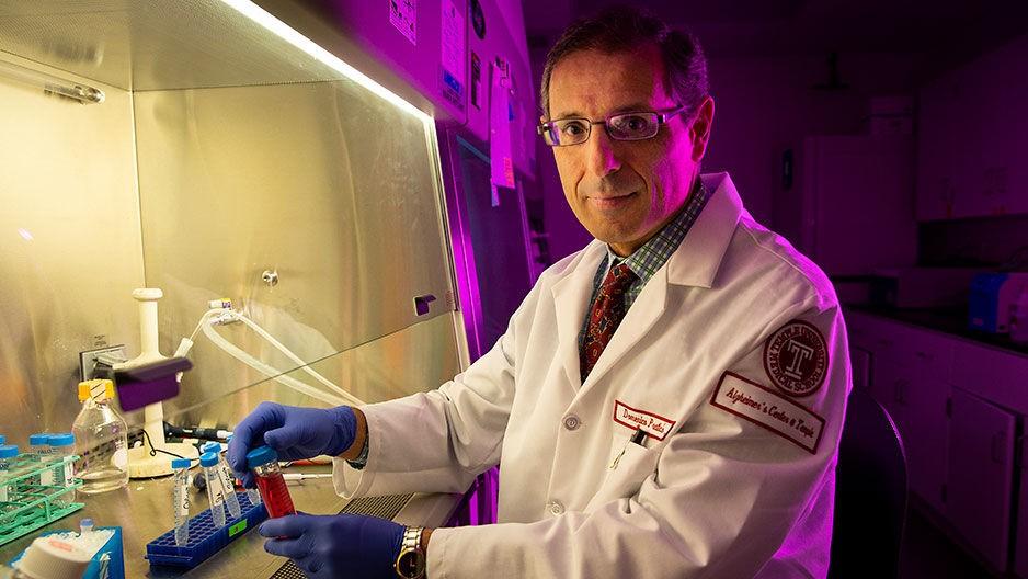 Pesquisador Domenico Praticò, diretor do Centro de Alzheimer da Temple University (Foto: Temple University)