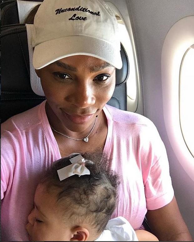 Serena Williams com a filha Alexis Olympia Ohanian Jr (Foto: Reprodução/Instagram)