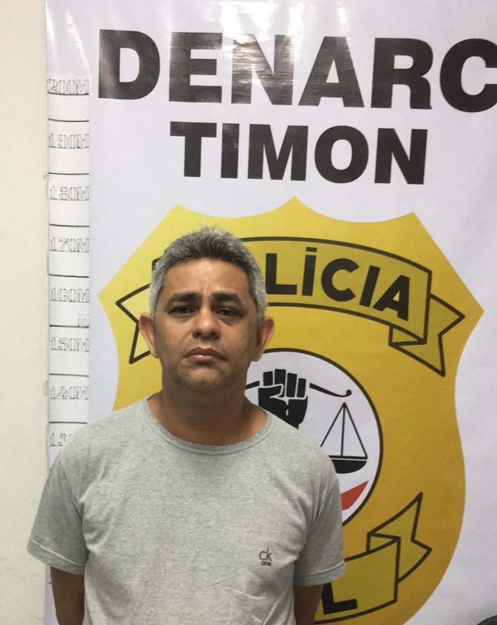 Mardônio José Alves Carvalho foi preso por suspeita de integrar quadrilha de tráfico de drogas em Timon (MA) — Foto: Divulgação/Polícia Civil