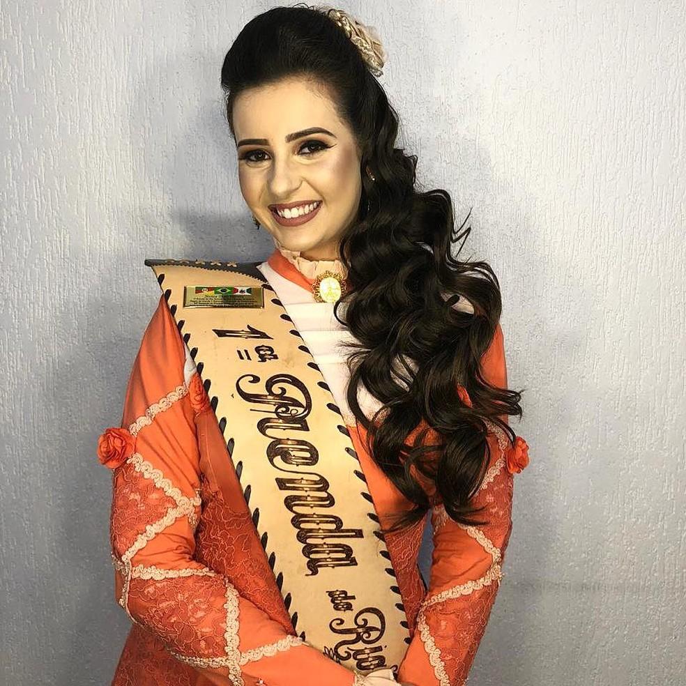 Jéssica Herrera, primeira-prenda do RS. — Foto: Arquivo pessoal